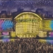 "Sand Animation ""Bithday of Ocean Plaza"""